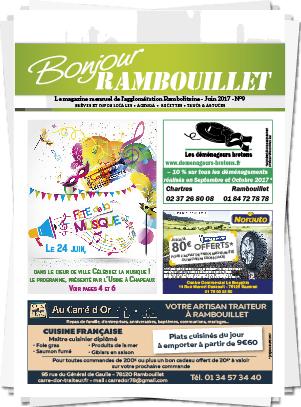 Magazine mensuel Bonjour Rambouillet