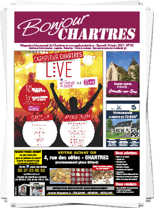 Magazine bimensuel Bonjour Chartres